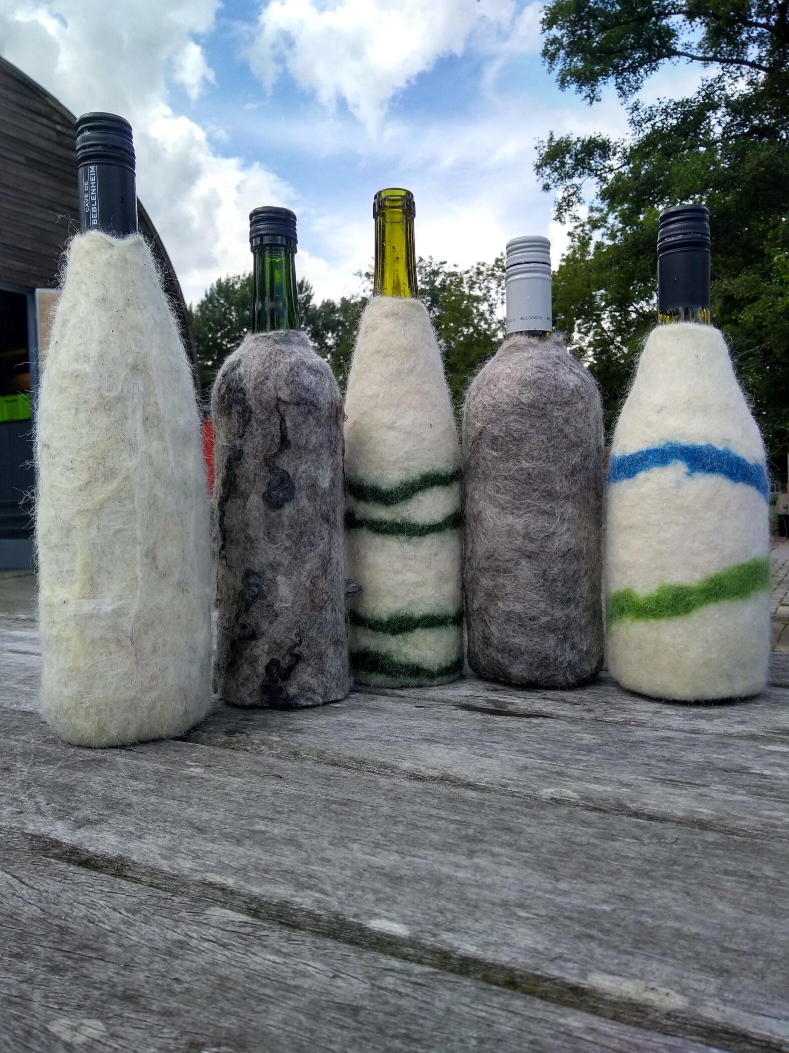 Wijnkoelers gemaakt tijdens leden-voor-ledenworkshop