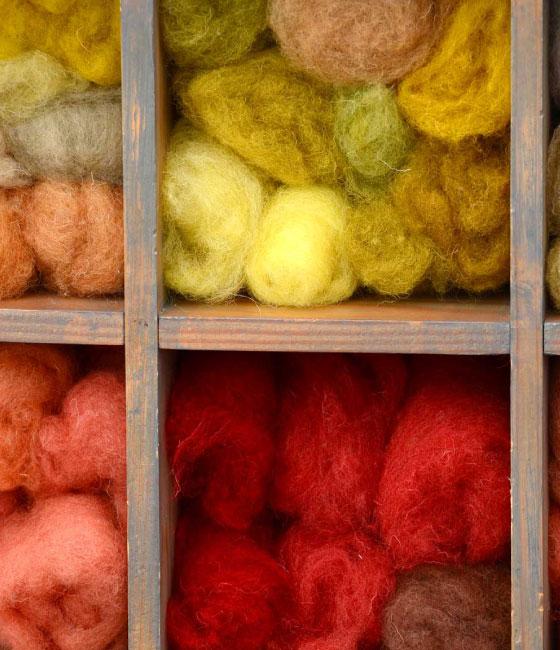 Wol in diverse kleuren